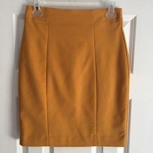 H&M Mustard Yellow Pencil Skirt